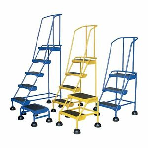Vestil Commercial Rolling Ladder Spring Loaded 2 Steps lad 2 y