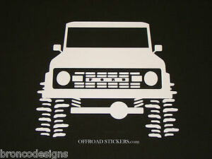 Early Ford Bronco Vintage Classic Sticker Decal 21 Colors 03