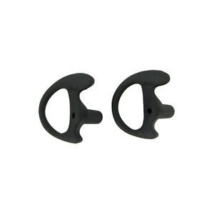 Black Replacement Medium Earmold Earbud Right Side Two way Radio Audio 2 Pack