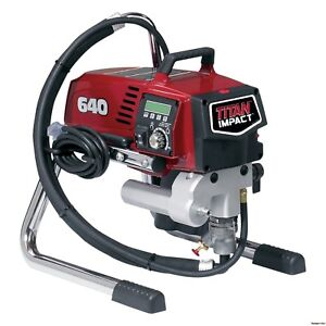 Titan 640 Impact Skid Airless Paint Sprayer 805 002 805002 Fast Free Shipping