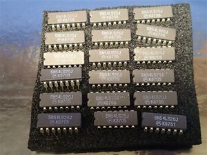1 Lot 24 Pcs Sn54ls20j Integrated Circuit New Old Stock Nos Unused