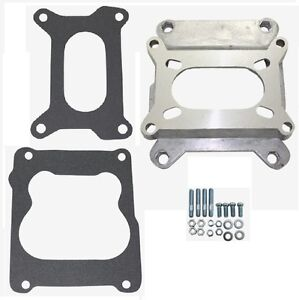 Carb Carburetor Adapter Holley Rochester 4 Bolt 2bbl To 4bbl Barrel Quadrajet