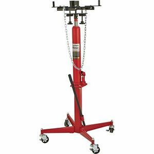Strongway Hydraulic Transmission Jack 1 2 Ton Cap 49 5 8in 68 3 4in Lift Range