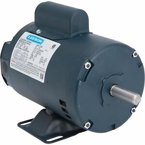 Leeson Contractor Woodworking Electric Motor 1 2 Hp Double shafted