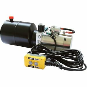 Nortrac 12 Volt Dc Hydraulic Power Unit Lift hold lower Applications