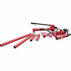 Strongway Hydraulic Portable Ram Kit 10 Ton Capacity 16 Pieces