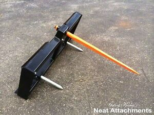 Skid Steer Bale Spear Attachment Wd W 39 Spear Quick Attach Bucket Loader 3000