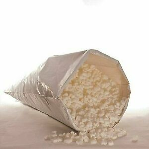 Biodegradable Packing Peanuts 6 Cu Ft Lot 45 Gal Eco Friendly White Popcorn