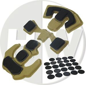 AIRSOFT OPS CORE LUX LINER STYLE UPGRADE HELMET PADDING PAD SET BUMP PADS