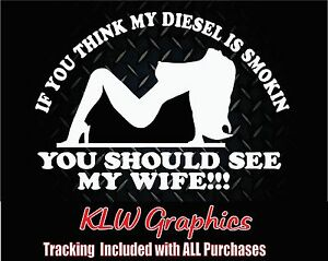 Think My Diesel Vinyl Decal Sticker Stacks Truck Powerstroke Duramax 2500