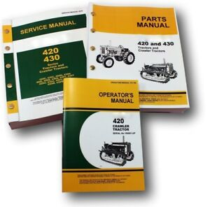 Service Manual Set For John Deere 420 420c Crawler Tractor Parts Operators Dozer