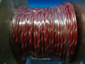 431ft M16878 3ble29 12 Awg 19 Conductor 3000v Red W White Stripe Military Wire