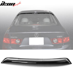 Fits 96 00 Honda Civic 2dr Coupe Black Window Shade Visor Rear Roof Spoiler