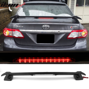 Fits 09 13 Toyota Corolla 4dr Sedan Sportivo Trunk Spoiler Led 3rd Brake Light