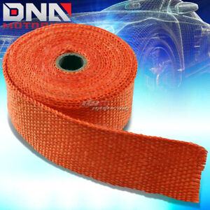 7 5m 25 Feet Header Manifold Downpipe Piping Exhaust Insulating Orange Heat Wrap
