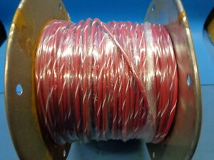 500ft M16878 3ble29 12 Awg 19 Conductor 3000v Red W White Stripe Military Wire