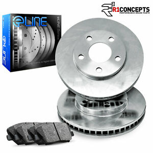 2012 2016 Ford Focus Front Eline Plain Brake Disc Rotors Ceramic Brake Pads