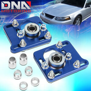 For 94 04 Mustang Blue Front 2 5 Adjust Camber Caster Plates Alignment Kit