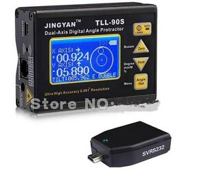Tll 90s Protractor Inclinometer Laser Level 0 005deg Accuracy Bluetooth Dongle