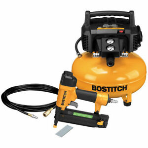 Bostitch 18 gauge Brad Nailer And Compressor Combo Kit Btfp1kit New