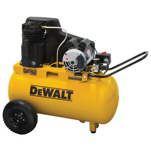 Dewalt 1 9 Hp 20 Gallon Oil lube Horizontal Air Compressor Dxcmpa1982054 New