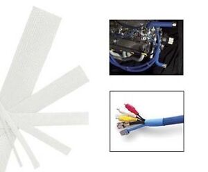 White Wire And Hose Sleeve Sleeving Kit Braided Cover Loom Protector Stereo Heat
