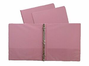 Pink Vinyl Standard 3 ring Binders 1 inch For 8 5 X 11 3 Pack Set
