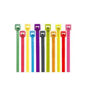 colored Cable Ties 50 11 Fluorescent Red 1000 case