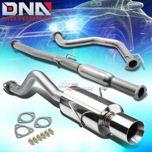4 Rolled Tip Stainless Steel Exhaust Catback System For 94 01 Integra Gs Rs Ls