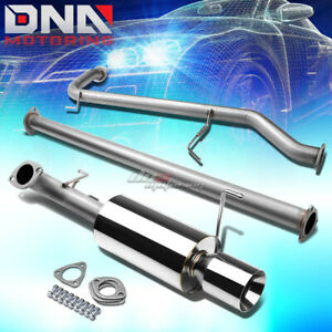4 Rolled Tip Stainless Steel Exhaust Catback System For 98 02 Accord Cg3 6 F23a