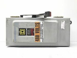 Rx 2167 Square D Hu361awk Safety Switch 30 Amps 600 Vac Or Dc