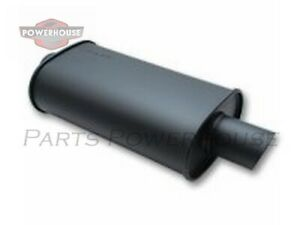 Vibrant 1153 Streetpower Flat Black Oval Muffler With Single 3 5 Outlet 3 5