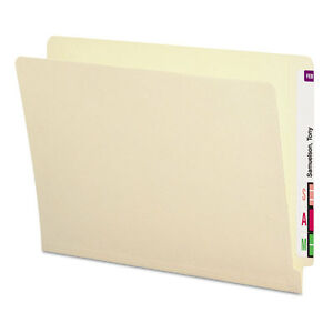 Smead Antimicrobial File Folders Straight End Tab 11 Point Letter Manila 100 box