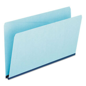Pendaflex Pressboard Expanding File Folder Straight Cut Top Tab Legal Blue