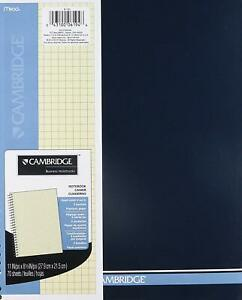 Mead Cambridge Wirebound Quad Notebook 70 Sheets ivory 2 Pk