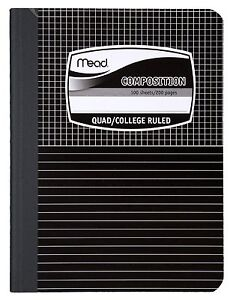 Mead 09000 Quad Top Composition Books Special Ruled 100 Sheets Pack Of 4
