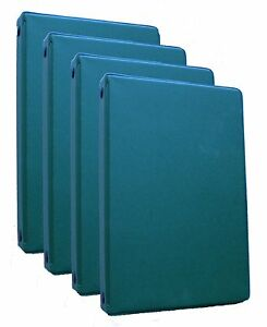 Mead 46001 hg Small 6 ring Hunter Green Binders With 6 75 X 3 75 inch 4 Pack
