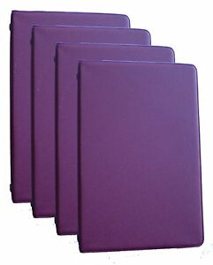 Mead 46000 Four Mini 6 ring Dark Red Memo Books Each Containing 3 X 5 Inc