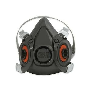 3m 6200 Half Face Respirator Medium Black 24 Per Case