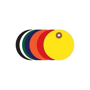 plastic Circle Tags 2 Red 100 each