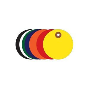 plastic Circle Tags 2 Yellow 100 each