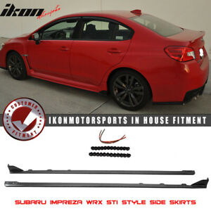 Fits 15 18 Subaru Wrx Oe Sti Style Side Skirts Splitter Abs