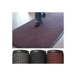 deluxe Rubber Backed Carpet Mats 3 x5 Charcoal 1 each