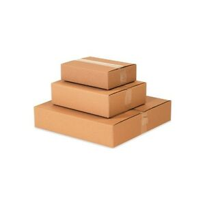 25 12x12x4 Flat Corrugated Shipping Packing Boxes