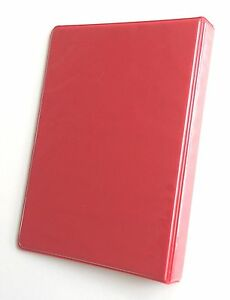Linco Little 3 ring Red View binders 8 1 2 X 5 1 2 Sheet Size 1 inch Round 4pk