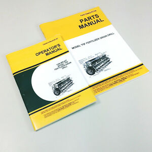 Operators Parts Manuals For John Deere Van Brunt Fb Grain Drill Owners Catalog