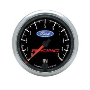 Autometer Ford Racing Tachometer 0 10 000 3 3 8 Dia In Dash Black Face 880084