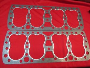 1938 42 Ford 24 Stud Flathead Graphtite Head Gaskets Pair 91a 6051 gt