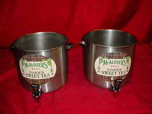 Lot Of 2 Cecilware Stainless Beverage Dispensers Mcalister s Famous Sweet Tea