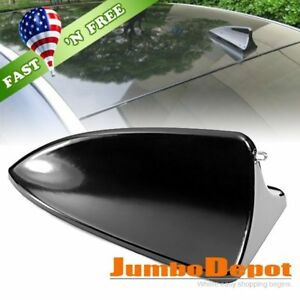 Us Black Shark Fin Style Roof Top Mount Dummy Aerial Antenna Mast For Honda Crv